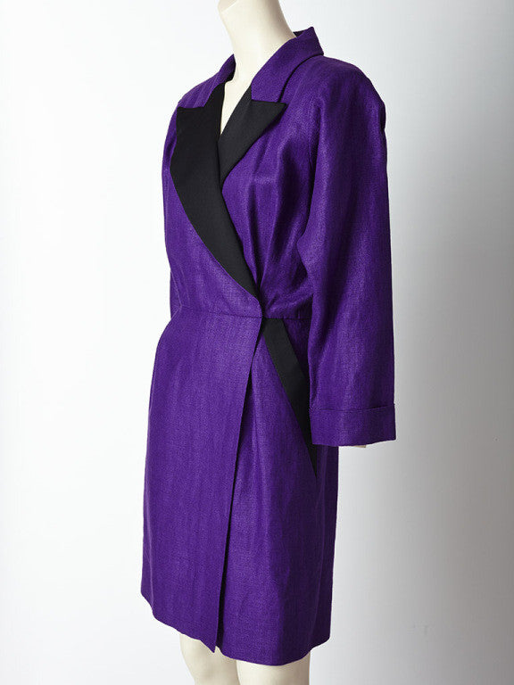 Yves Saint Laurent Linen Tuxedo Dress
