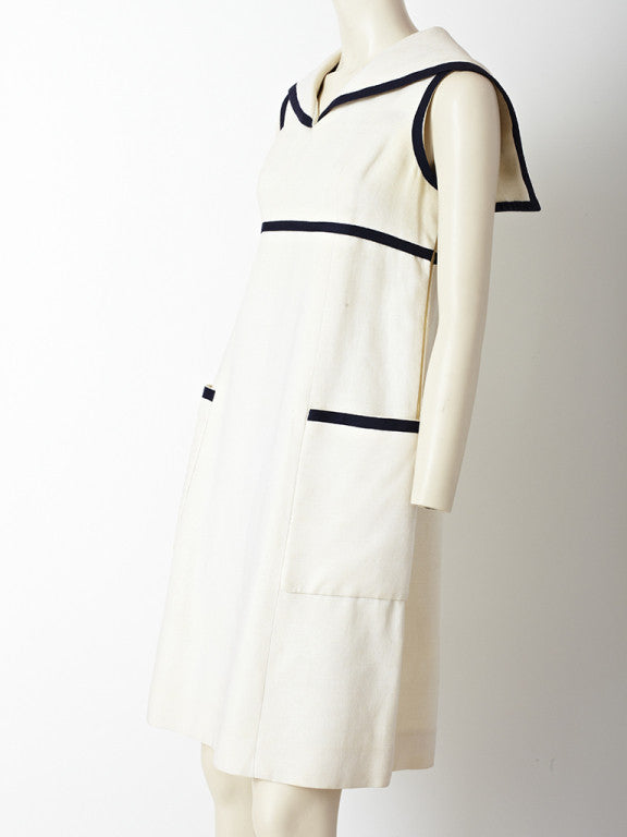 Geoffrey Beene Linen Midi Dress