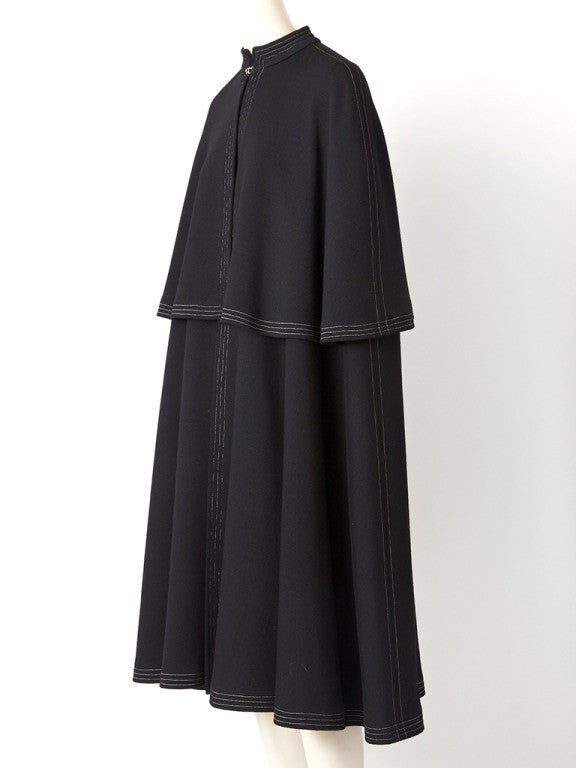 Sibley-Coffee Tiered Cape