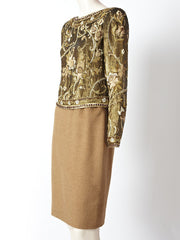 Carolyne Roehm Sequined and Embroidered Ensemble