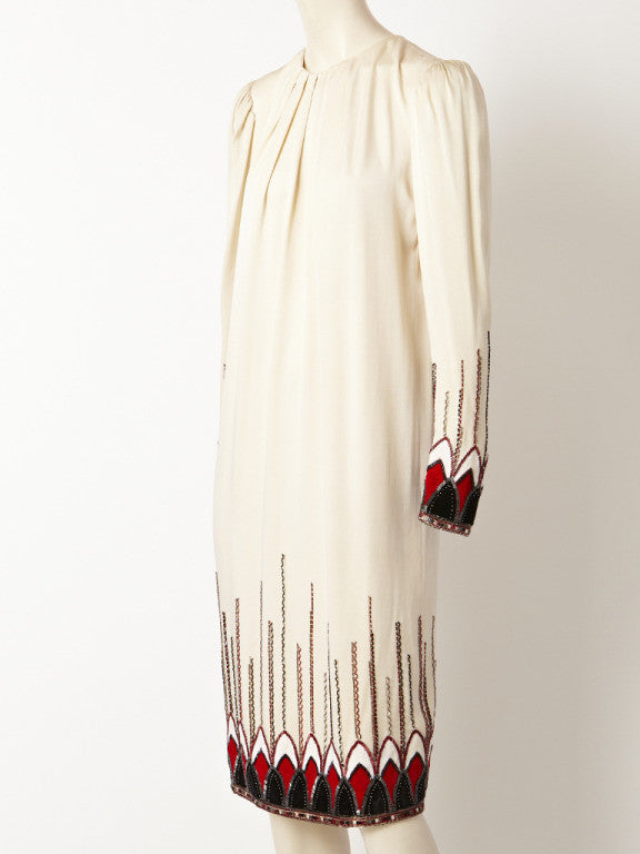 Art deco inspired cocktail dress