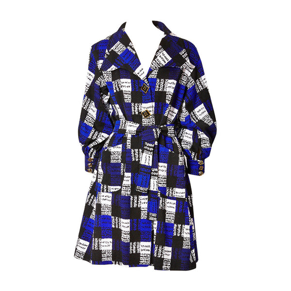 Christian LaCroix Graphic Print Coat Dress