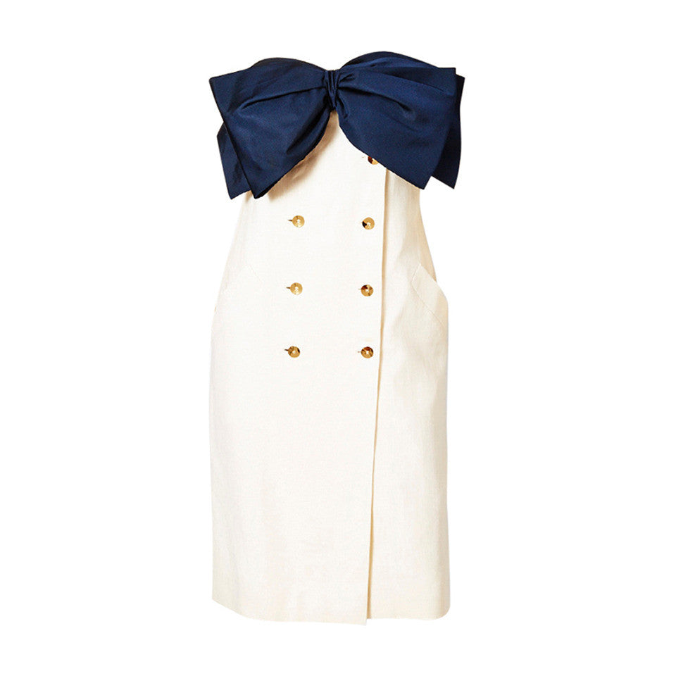 Bill Blass Strapless Bow Dress