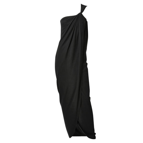 Ungaro Silk Crepe One Shoulder Gown