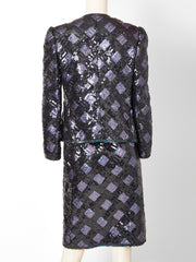 Adolfo Sequined Dinner Suit