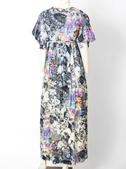 Ronald Amey Floral Patterned Maxi Dress C. 1970's
