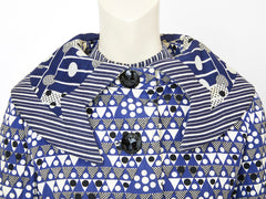 Ronald Amey Graphic Mixed Patterns Dress and Jacket Ensemble
