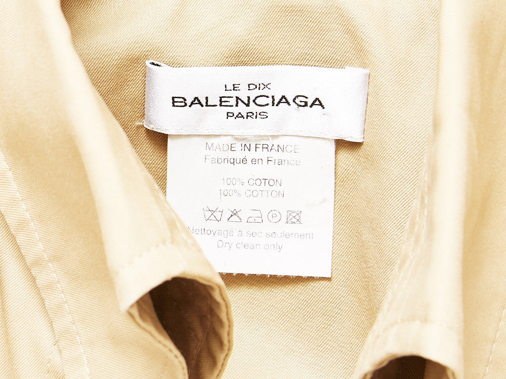 Balenciaga Classic Belted Khaki Trench