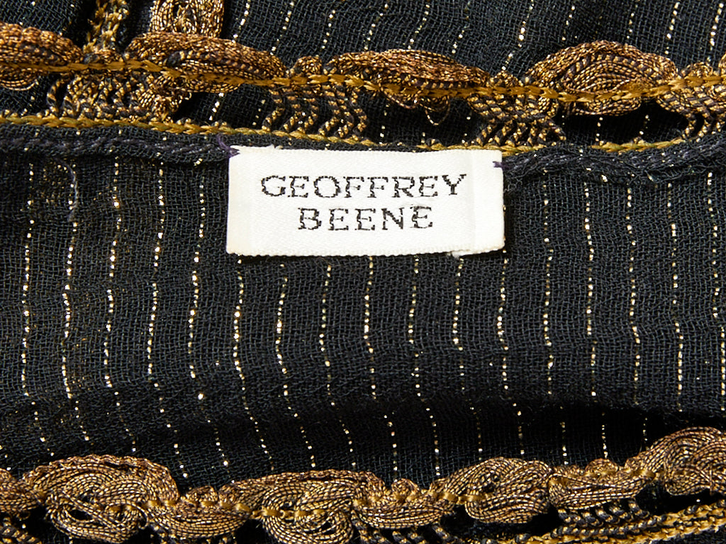 Geoffrey Beene Embellished Silk Gauze Shift
