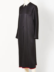 Geoffrey Beene Silk Charmeuse Midi Dress with Satin Trim