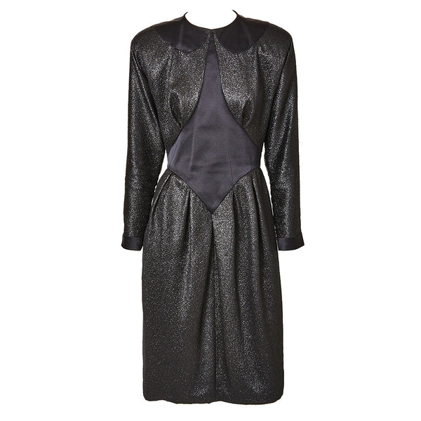 Geoffrey Beene Satin and Lurex Dress