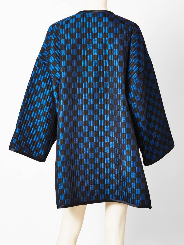 Geoffrey Beene Graphic Check Quilted Coat