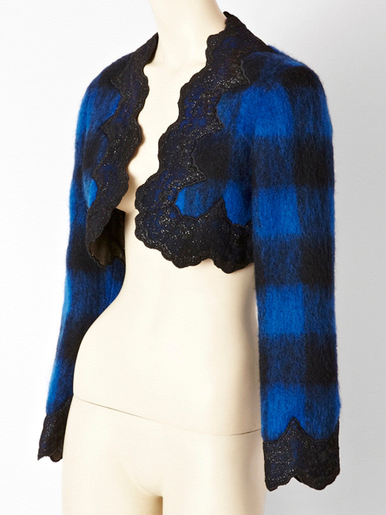 Mr. Beene Mohair and Lace Bolero