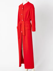 Geoffrey Beene Wool Knit Belted Hostess Coat/Dress