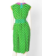 Geoffrey Beene Striped Silk Dress