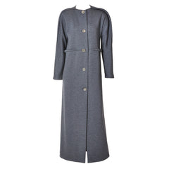 Geoffrey Beene Wool Knit Maxi Coat