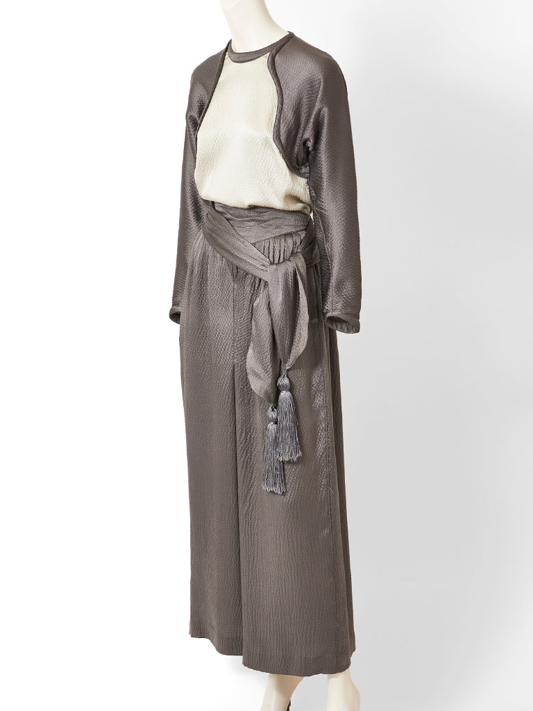 Geoffrey Beene Hammered Satin Palazzo Pant Ensemble