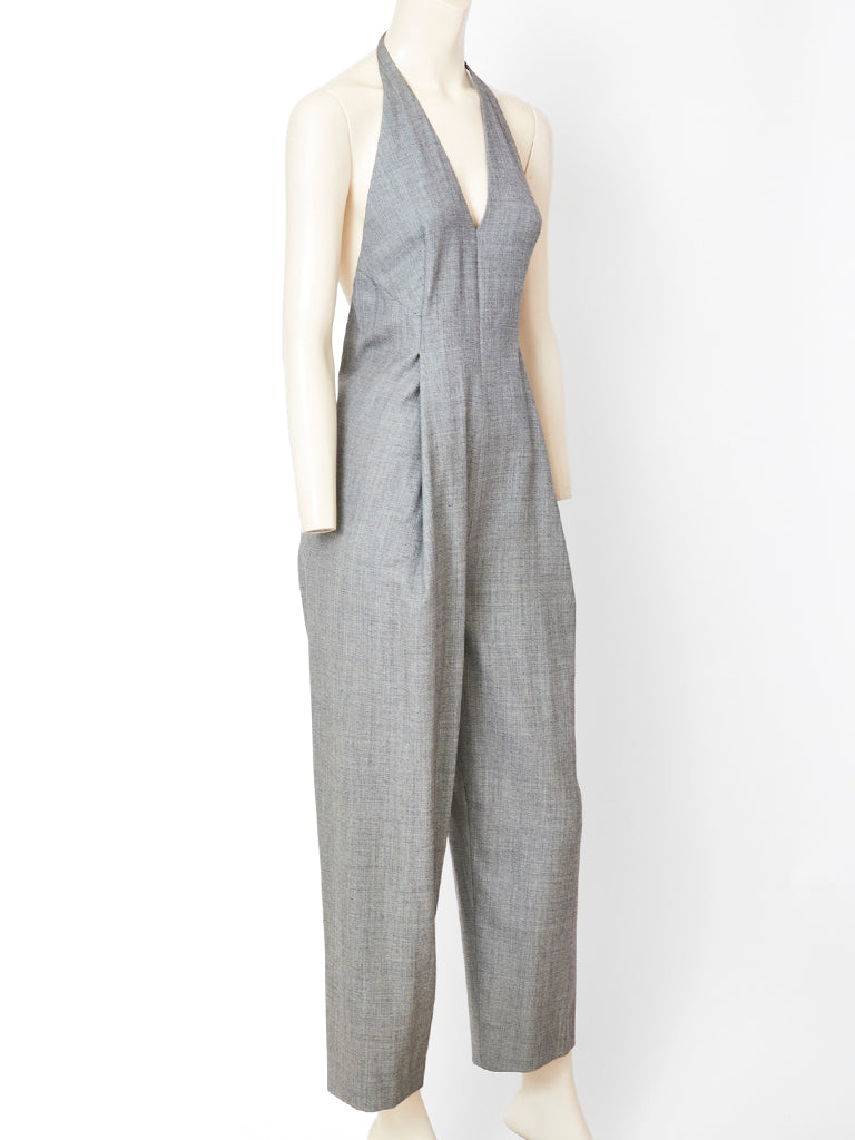 Geoffrey Beene Halter Neck Jumpsuit with Jacket