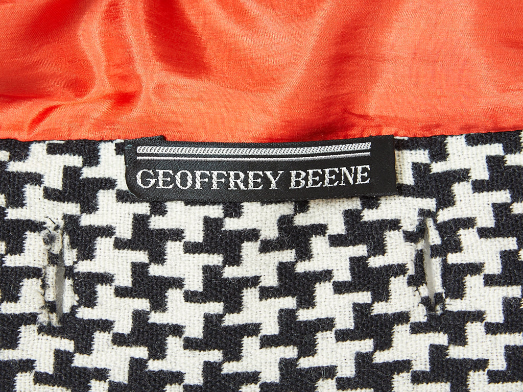 Geoffrey Beene Houndstooth Pattern Tunic and  Skirt Ensemble