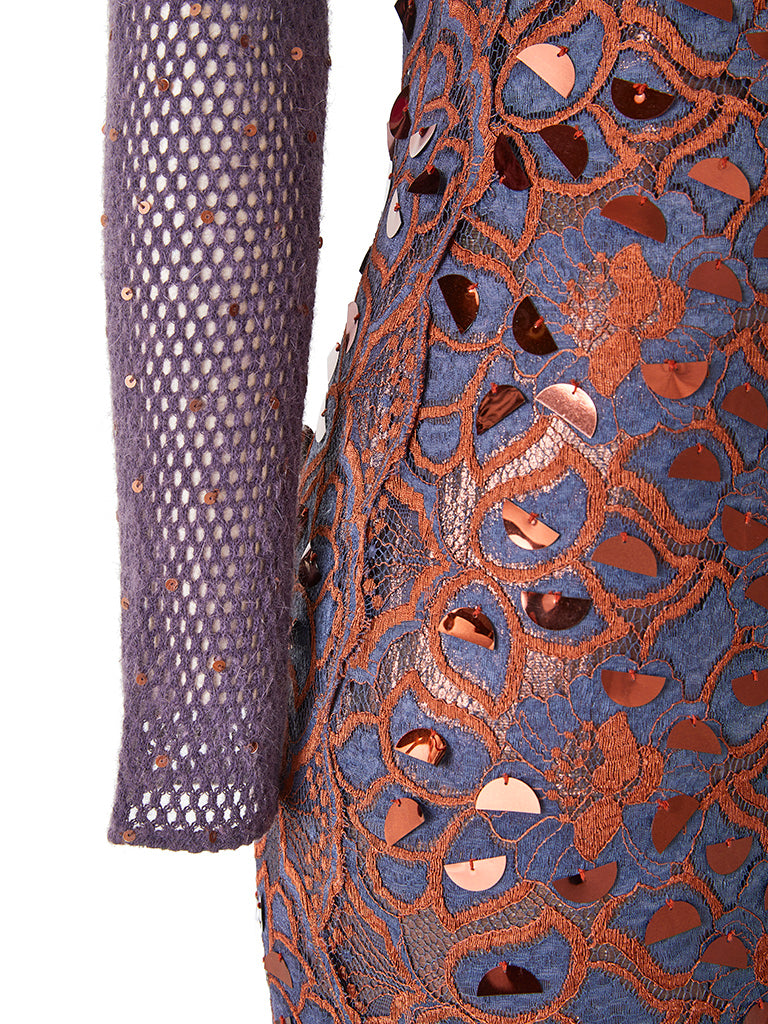 Geoffrey Beene Multi Textured Evening Gown