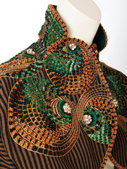 Geoffrey Beene Leasage Embroidered Bolero