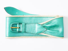 Geoffrey Beene Metallic Leather Belt