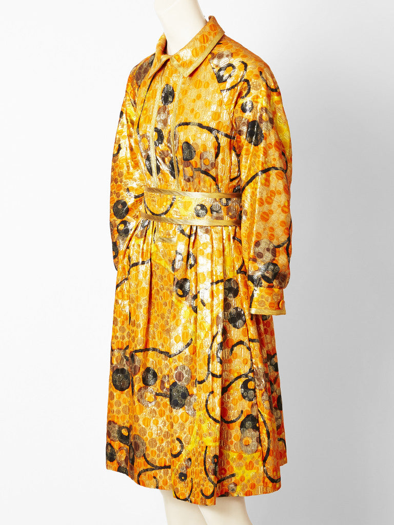 Geoffrey Beene Brocade Cocktail Dress