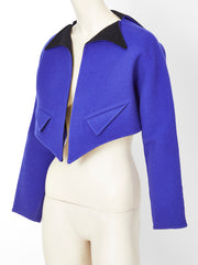 Geoffrey Beene Double Face Wool Cropped Jacket