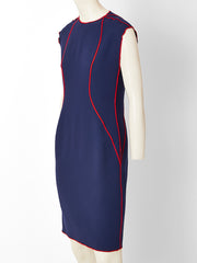 Geoffrey Beene Wool Crepe Day Dress