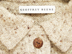Geoffrey Beene Taupe Tweed Coat