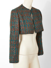 Geoffrey Beene Tweed and Squined Bolero