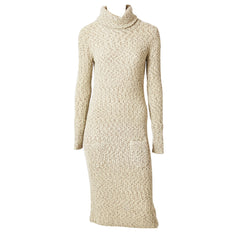 Geoffrey Been Tweed Knit Turtleneck Dress