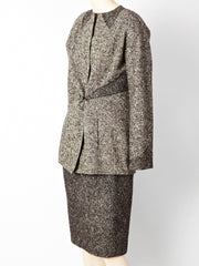 "Geoffrey Beene Tweed Suit with ""Quilting"" Detail"