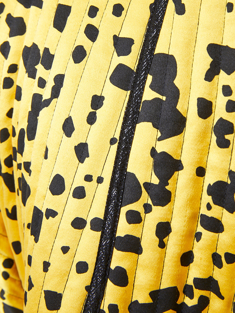 Geofffey Beene Yellow and Black Dalmatian Pattern Bolero