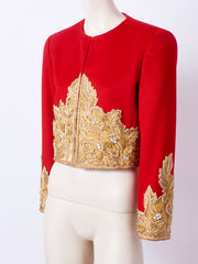 Bill Blass Embroidered Bolero Jacket
