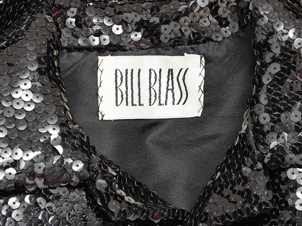 Bill Blass Sequined Cropped Jacket