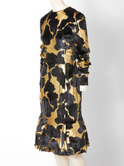 Bill Blass Silk Velvet Cocktail Dress