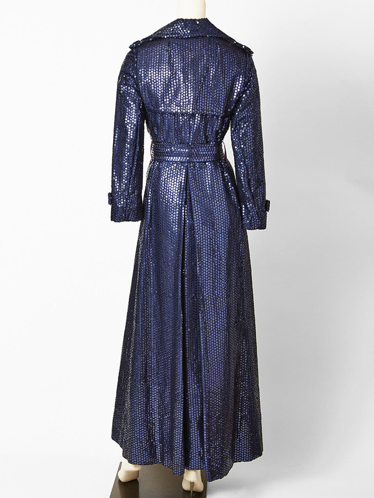 Bill Blass for Bond Street Sequined Evening Trench