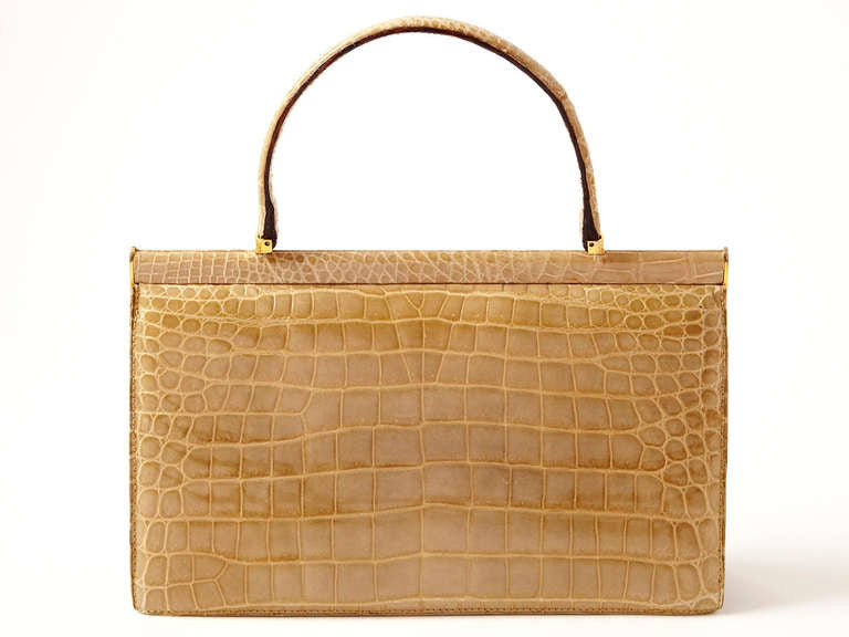 Taupe Crocodile Handbag