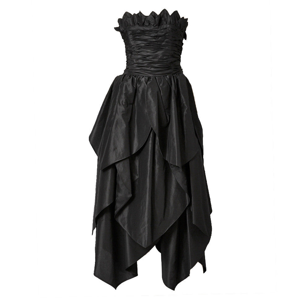 Alfred Bosand Strapless Taffeta Gown