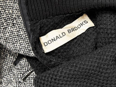 Donald Brooks Knit and Tweed Day Dress