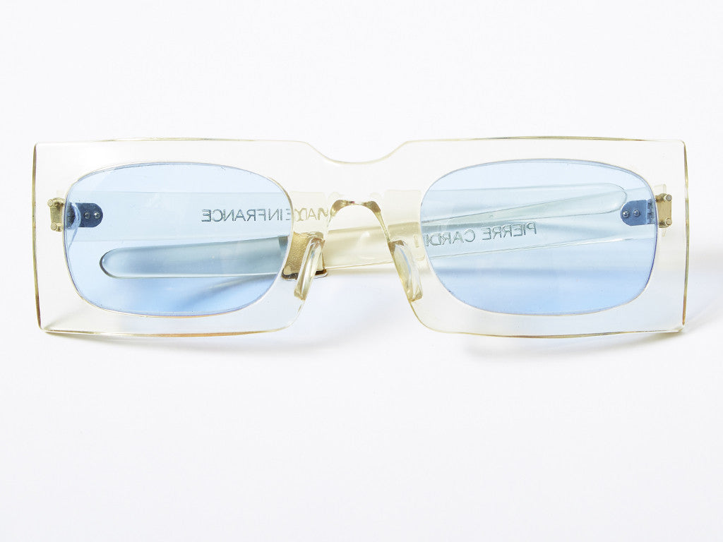 Pierre Cardin Clear Lucite Sunglasses
