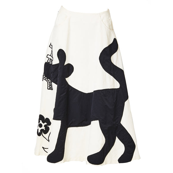 Castelbajac Embroidered and Appliqued Skirt