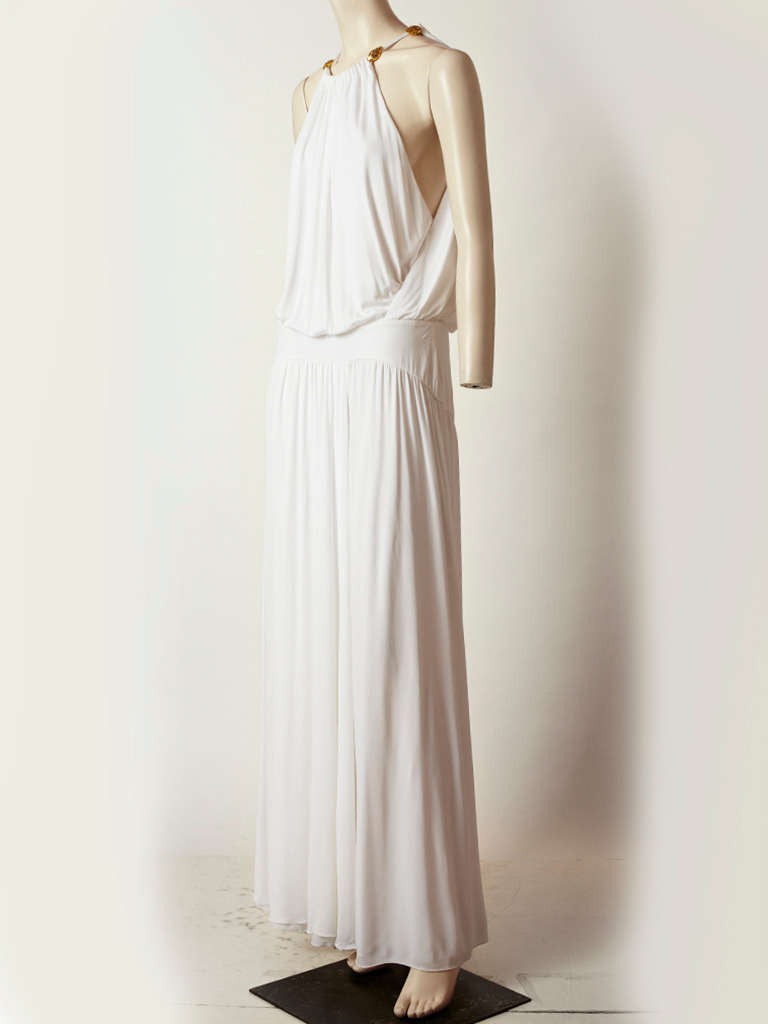 Cavalli Grecian Inspired Jersey Gown