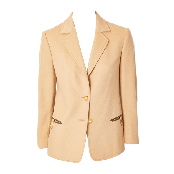 Celine 70's Blazer with Leather Detail