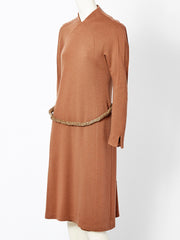Chado Ralph Rucci Wool Knit Day Dress