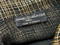 Chanel Gold Lurex and Georgette Blouse C. late 70's