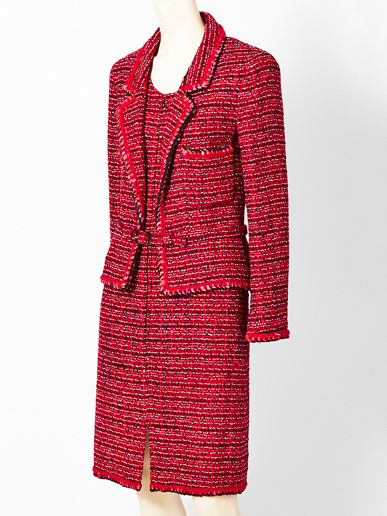 Chanel Tweed Jacket and Dress Ensemble