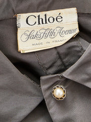 Karl Lagerfeld For Chloe Taffeta Faille Dress