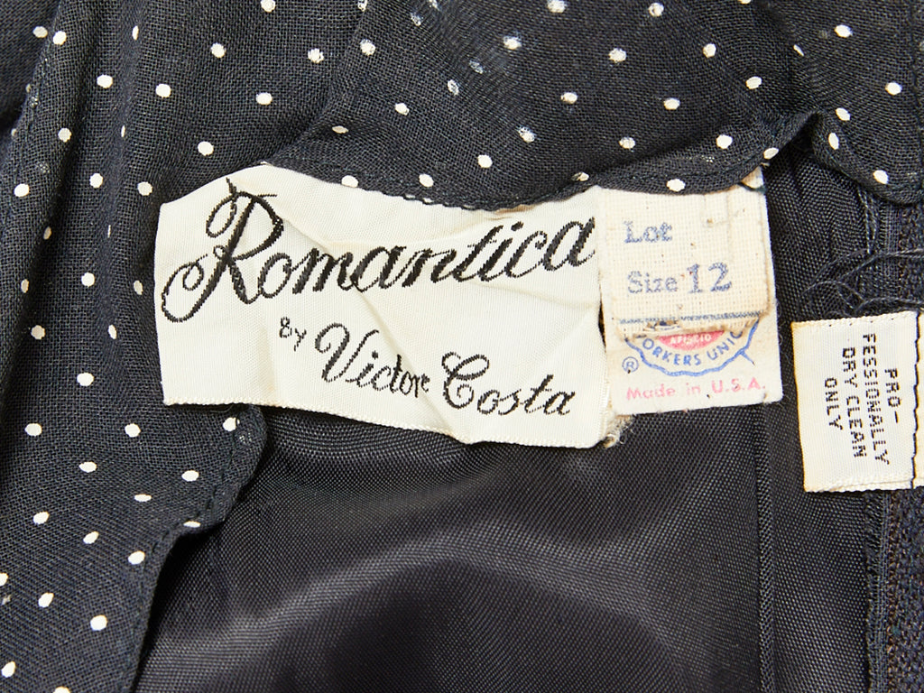 Victor Costa Romantica Dotted Swiss Maxi Dress
